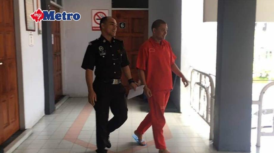 TERTUDUH dipenjara tujuh bulan di Mahkamah Majistret. FOTO Ihsan pembaca