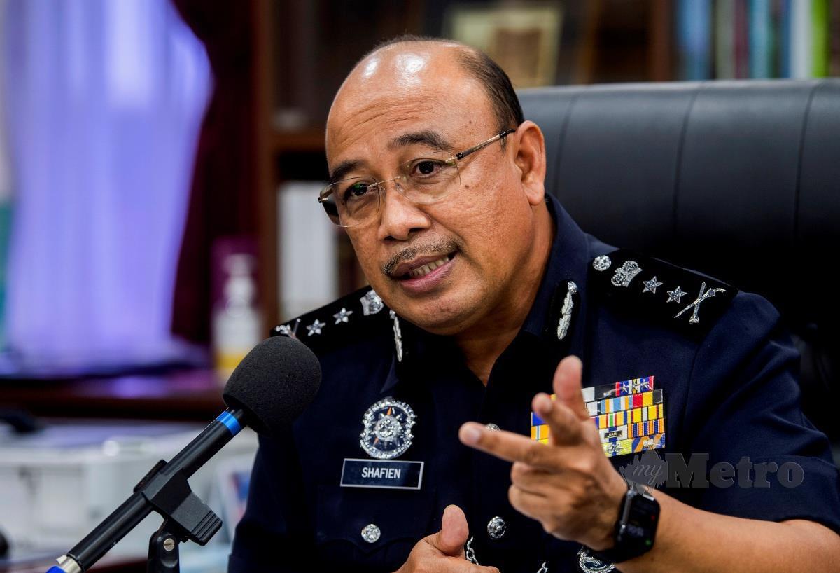 KETUA Polis Kelantan Datuk Shafien Mamat. FOTO Bernama