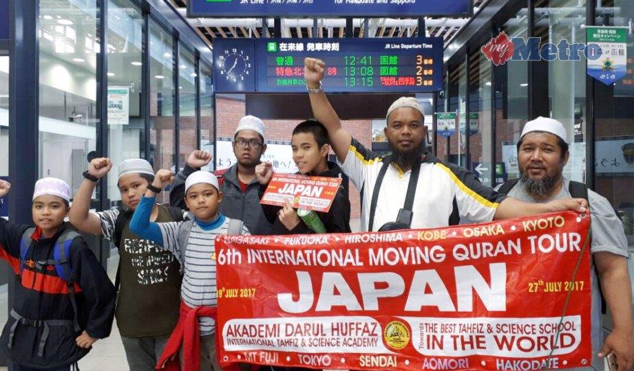 SHEIKH Lokman Shazly sewaktu kembara ke Jepun sambil berdakwah. FOTO Ihsan pembaca