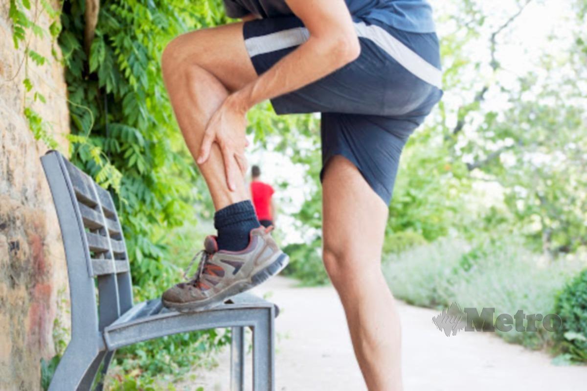 KEKURANGAN air boleh menyebabkan kekejangan otot.