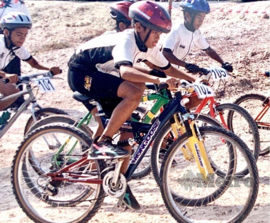 HARRIF kuasai perlumbaan basikal sejak zaman kanak-kanak.