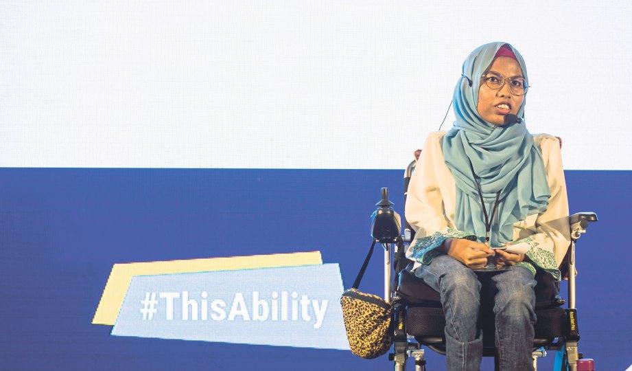 AINAA berkongsi pengalaman dan cabaran dengan peserta yang lain.