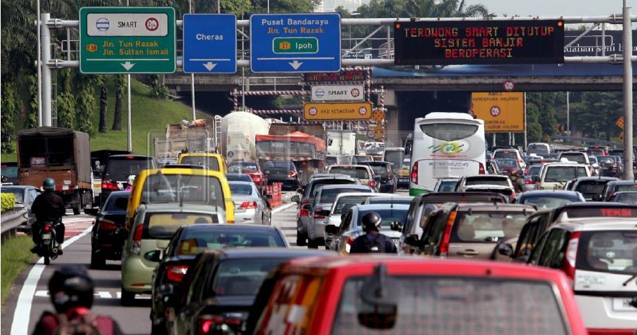 Terowong SMART yang turut membantu menyuraikan trafik. FOTO Arkib NSTP.