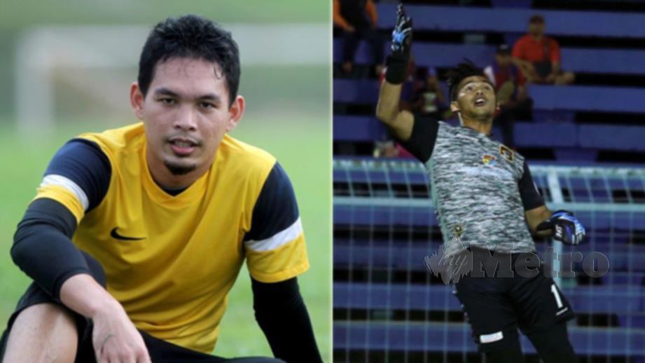 Sharbinee (kiri) dan Daniel galas tugas penjaga gol Pahang. FOTO NSTP