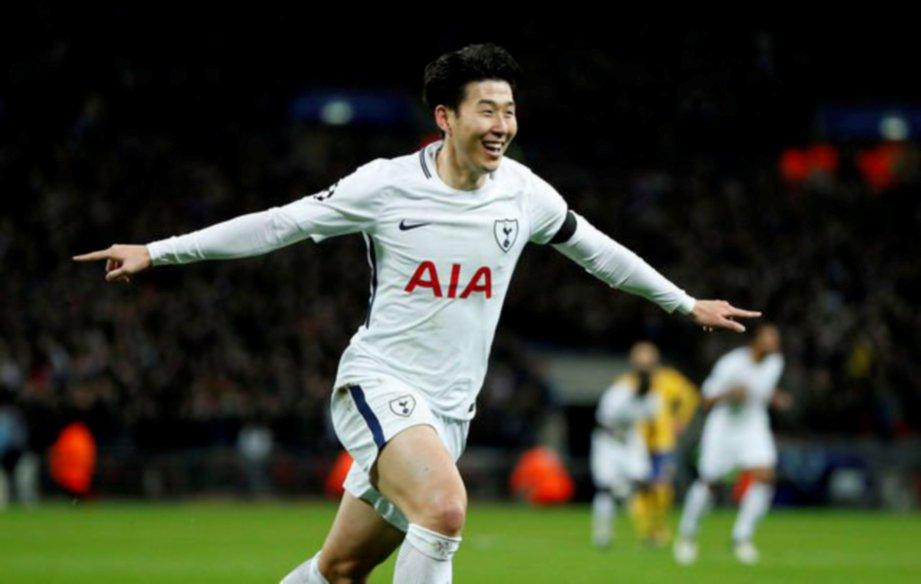 HEUNG-MIN tandatangani kontrak panjang bersama Spurs. -Foto Reuters