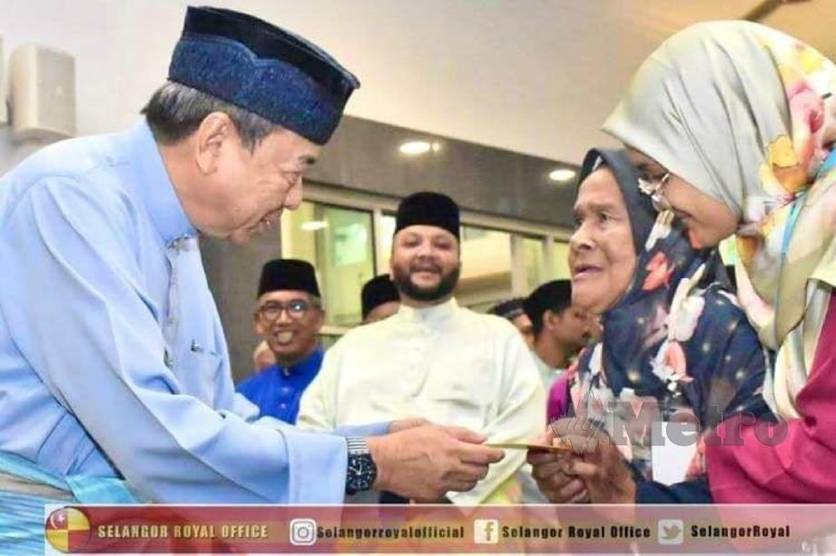 SULTAN Selangor, Sultan Sharafuddin Idris Shah sukacita dengan operasi LZS yang telus tanpa penyelewengan. FOTO ihsan SELANGOR ROYAL OFFICE