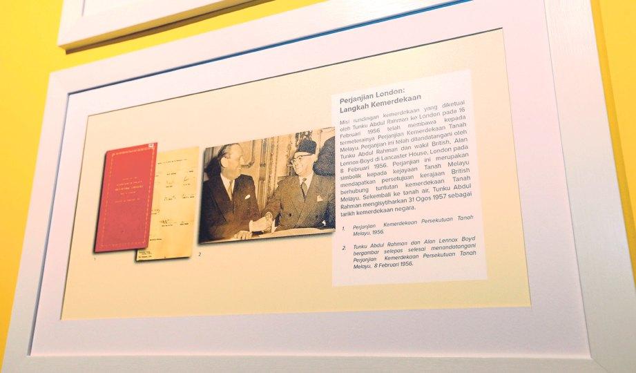 ANTARA bahan sejarah yang dipamerkan di Dewan Pameran Eksklusif Arkib Negara.