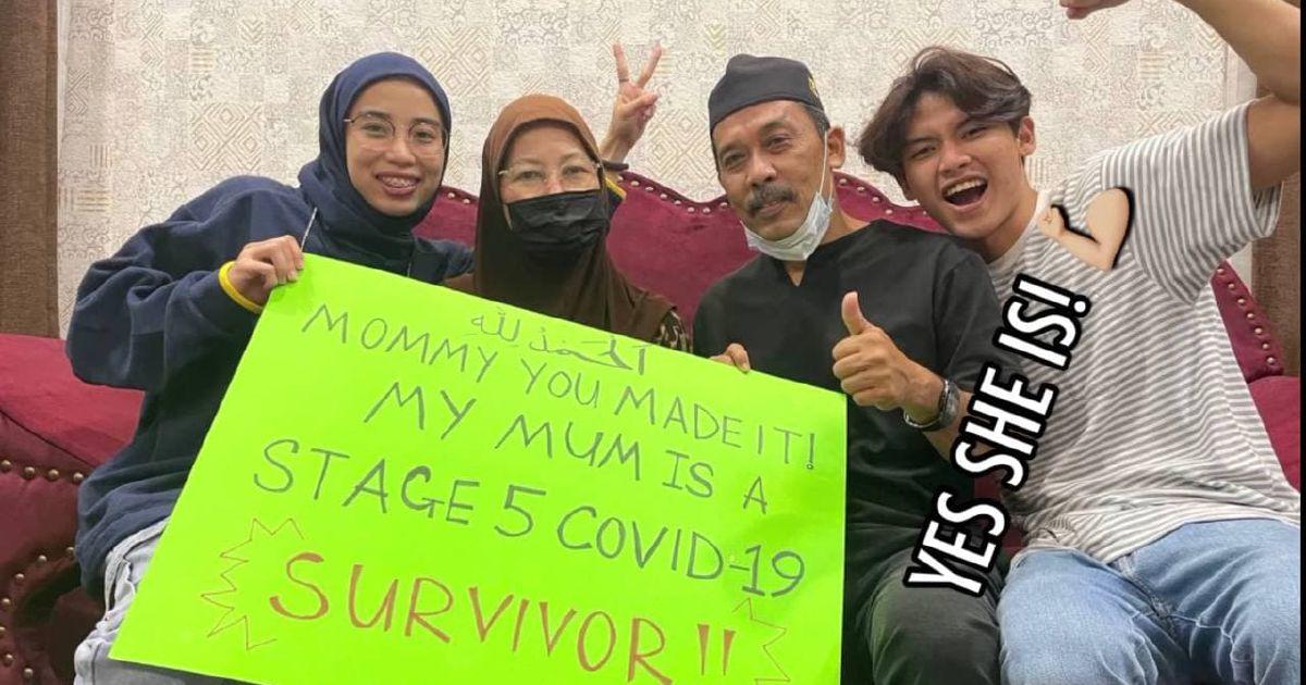 'Alhamdulillah ibu dah sembuh, bebas Covid-19'