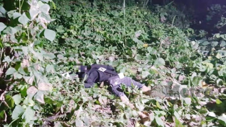Penyamun bertopeng maut ditembak di kawasan perumahan Palm Height. FOTO Ihsan PDRM