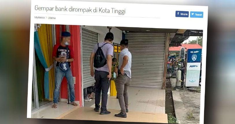 Rompak bank: Suspek umur 19 tahun mati ditembak [METROTV ...