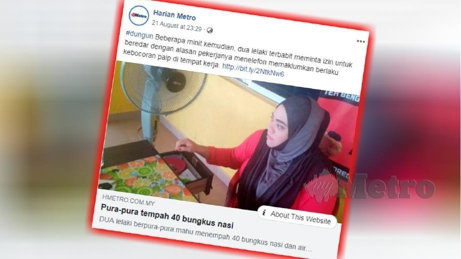 LAPORAN portal berita Harian Metro 21 Ogos lalu mengenai peniaga kedai makan kerugian RM3,000.