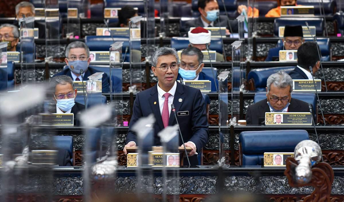 TENGKU Zafrul ketika sesi Dewan Rakyat di Parlimen. FOTO Ihsan Jabatan Penerangan Malaysia