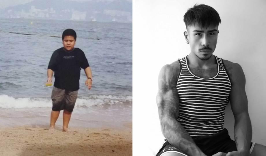 SKINNER bertekad amalkan gaya hidup sihat. Gambar kanan, Skinner ketika berusia 12 tahun. FOTO Timothy Skinner