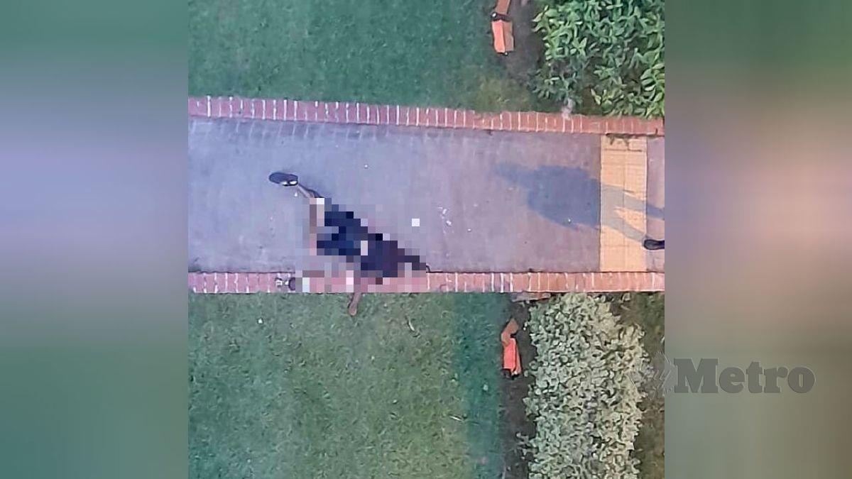 RAKYAT Malaysia yang maut selepas terjun dari tingkat lapan sebuah apartmen di Singapura. FOTO tular media sosial