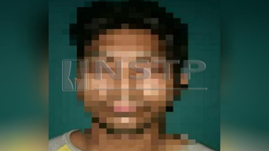 SUSPEK yang ditahan kerana didakwa membelasah isterinya. FOTO Ihsan PDRM