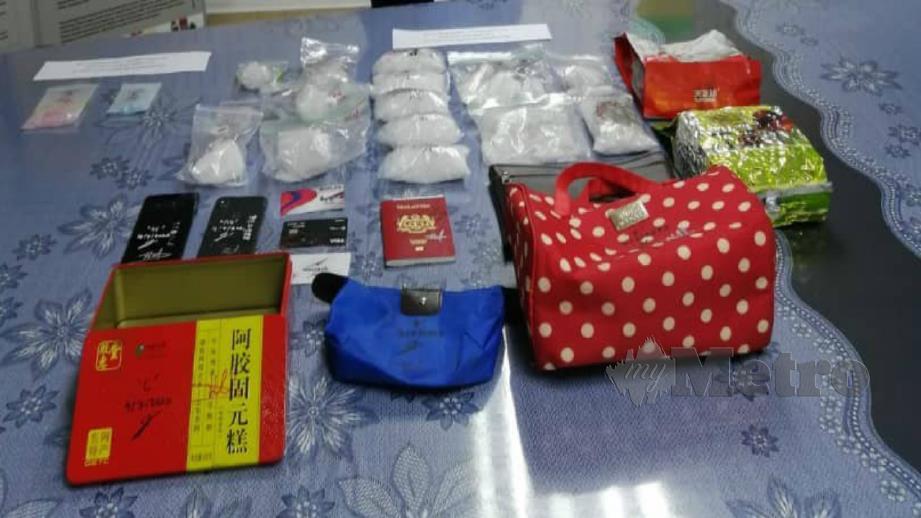 ANTARA dadah yang dirampas. FOTO PDRM.