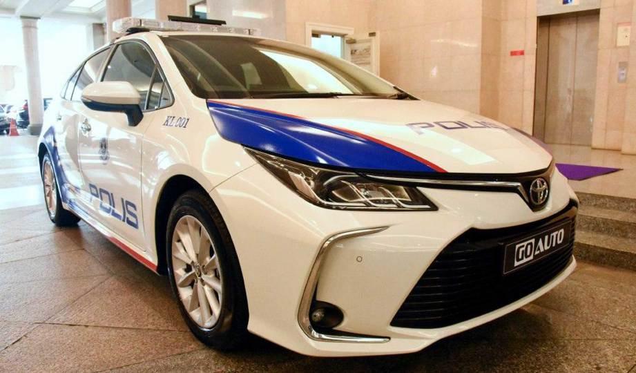 PROTOTAIP Toyota Corolla Altis yang bakal menjadi kenderaan peronda (MPV) PDRM. FOTO Go Auto Group