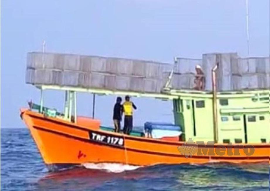 BOT nelayan TRF 1178 ditemui kira-kira 10 batu nautika dari lokasi dilaporkan hilang.