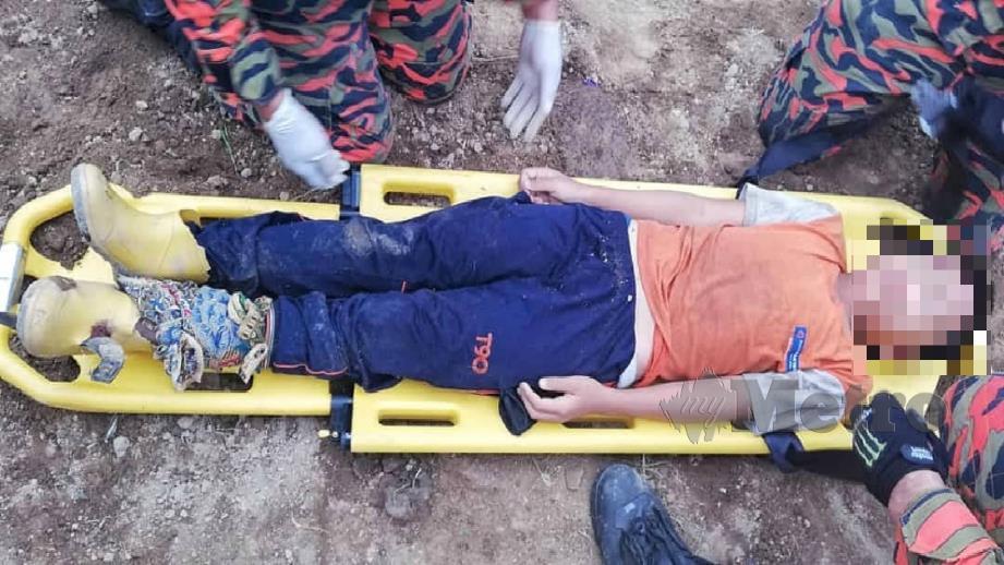 MANGSA dibawa ke Hospital Tambunan dan dilaporkan stabil. FOTO Ihsan Bomba.