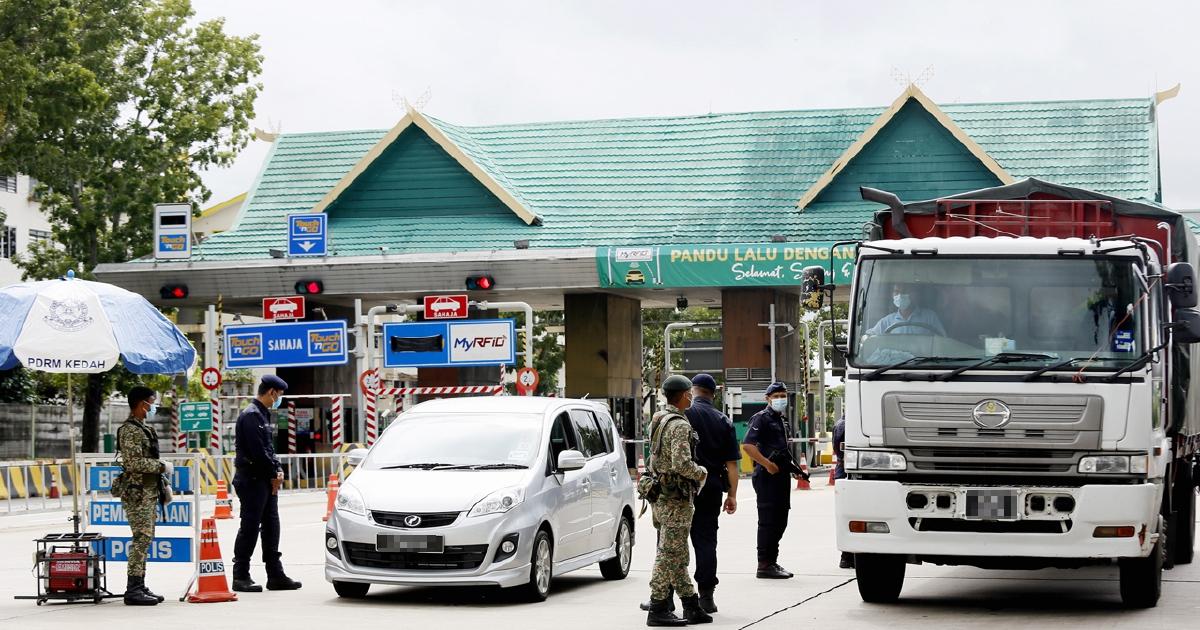 PKPD: Laluan masuk, keluar Plaza Tol Alor Setar Selatan ditutup sementara