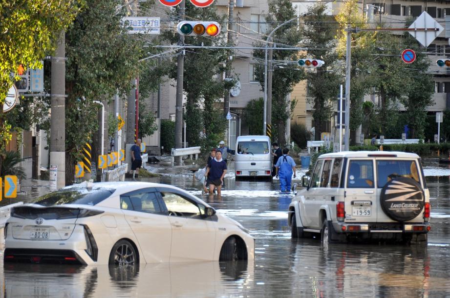 KEADAAN selepas dilanda Taufan Hagibis di Bandar Tokyo. FOTO EPA