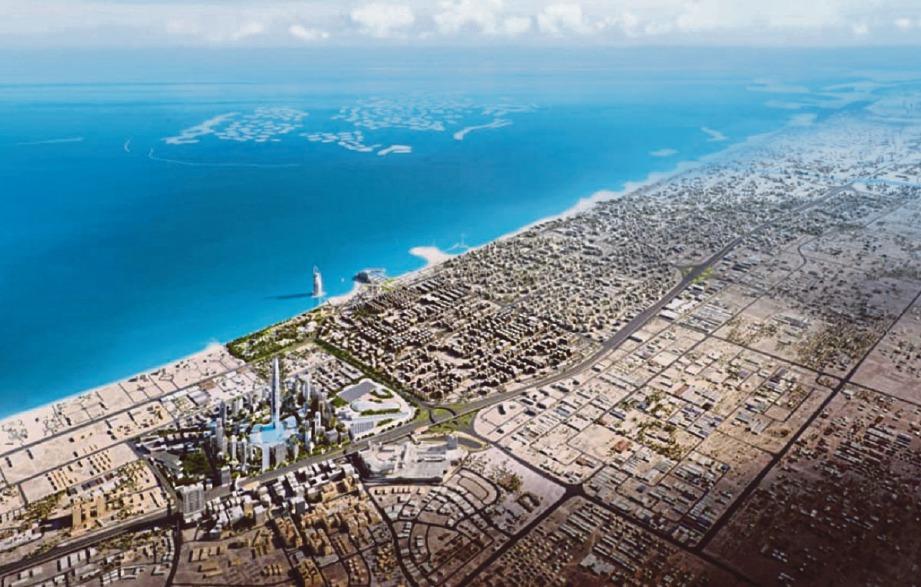 PEMBINAAN menara Burj Jumeira akan didirikan di tengah-tengah Downtown Jumeira berhampiran hotel Burj Al Arab dan selatan Downtown Dubai.