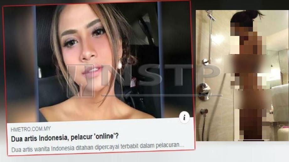FOTO bogel (gambar kiri) didakwa Vanessa yang tersebar di media sosial. FOTO Ihsan Media Sosial