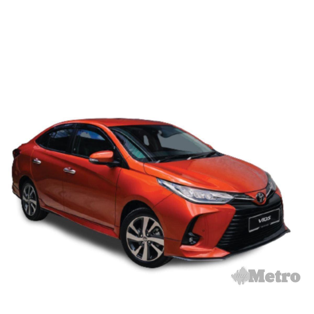 TOYOTA Vios antara model kereta  ditawarkan dalam program Kinto One.