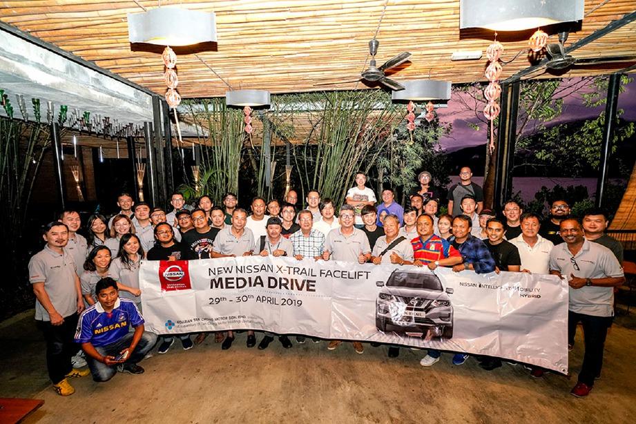 PIHAK media yang menyertai Nissan X-Trail Facelift Media Drive.