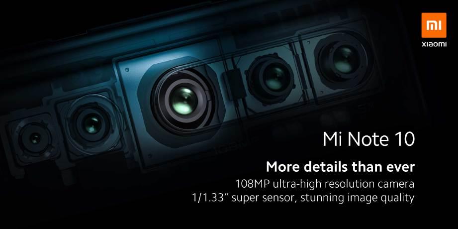 XIAOMI Mi Note 10 menjadi peranti pertama menggunakan lensa 108MP.