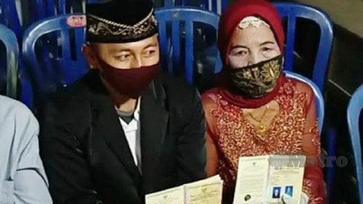 YAINEM dan Jamhar disatukan di Kampung Slahung, wilayah Ponorogo di Jawa Timur, semalam. FOTO Agensi
