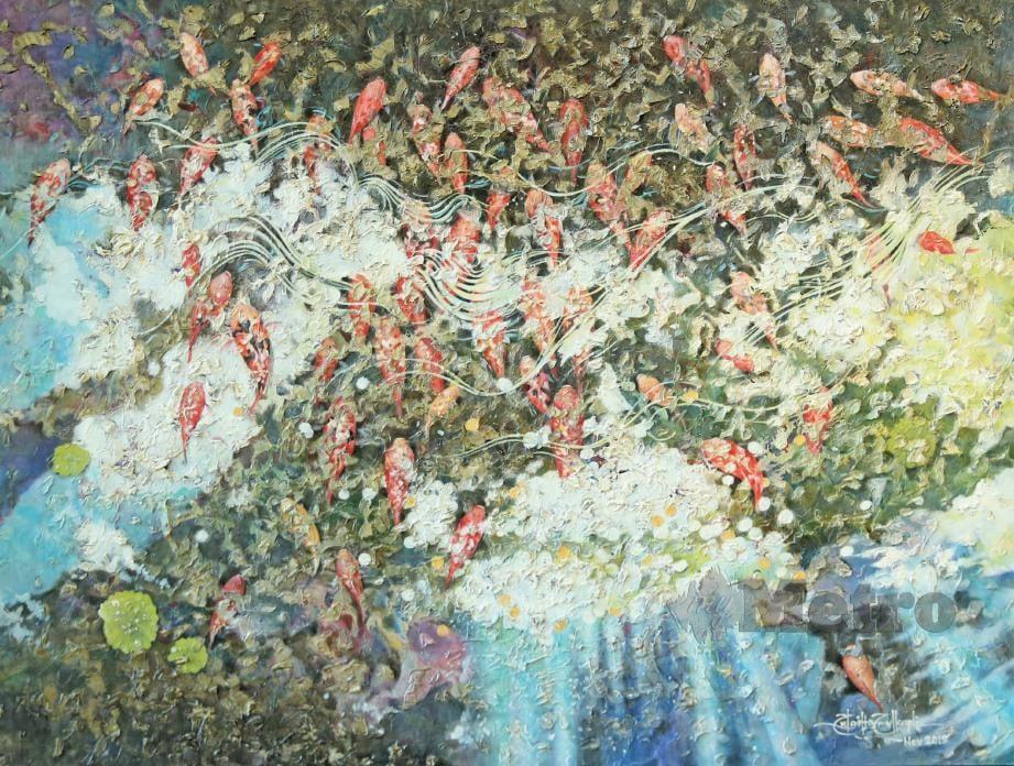 ANTARA lukisan yang dihasilkan Zulaiha.