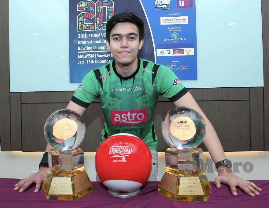 PEMAIN Bowling Kebangsaan, Muhammad Azizi Naim Jabar. FOTO Khairul Azhar Ahmad.