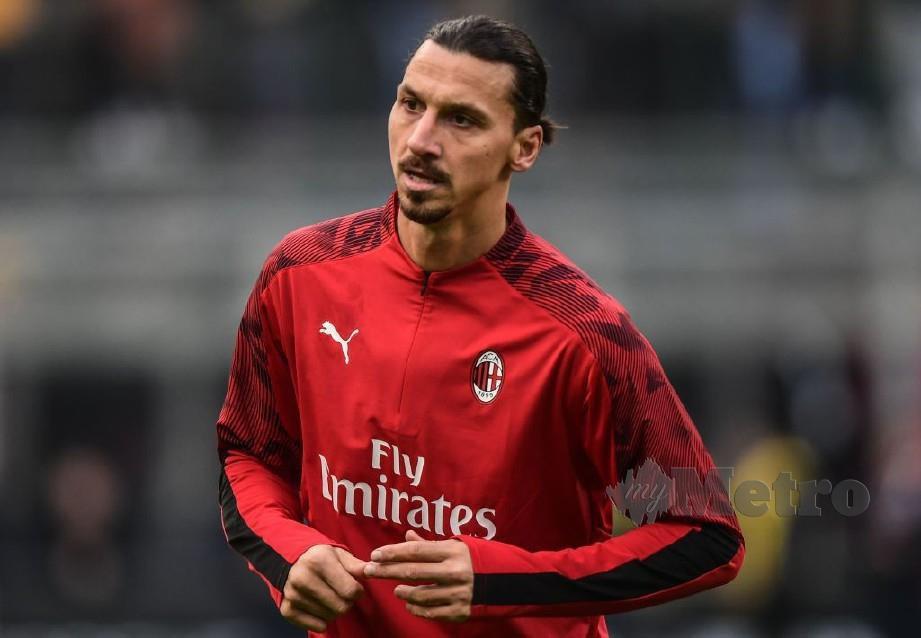 Penyerang AC Milan, Zlatan Ibrahimovic. FOTO File Agensi