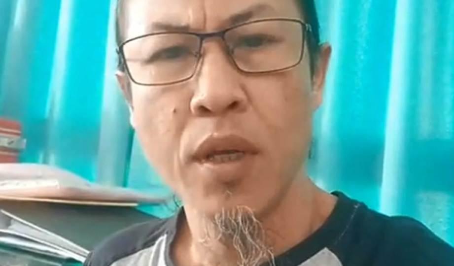 ZUL menerusi video yang dimuat naik di Facebook. FOTO Facebook Zul Yahya